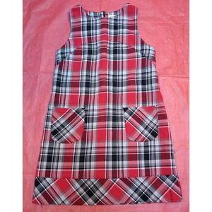 Cherokee girl 7/8 Christmas Plaid Sleeveless Dress